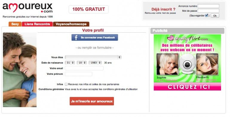 site amoureux 100 gratuit