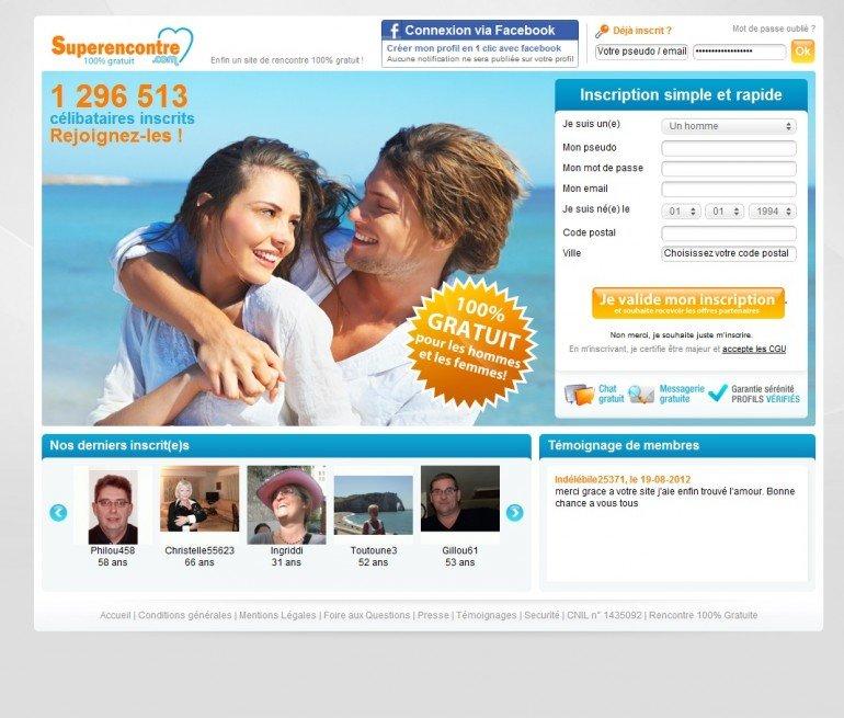 Superencontre site de rencontre gratuit